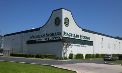 Building exterior at the Magellan Storage in Costa Mesa California