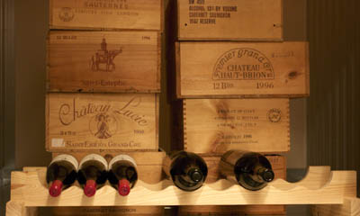 Wine locker interior storage at the Costa Mesa Magellan Storage