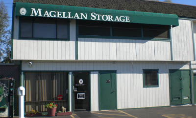 Office building exterior at the Magellan Storage in Irvine CA