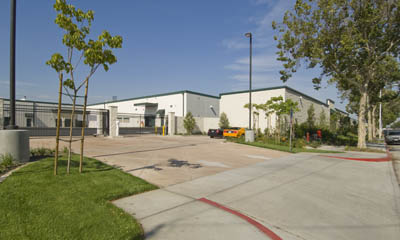 The main gate at Magellan Storage in the City of Commerce, California