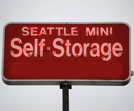 Mini sign SEATTLE SELF STORAGE