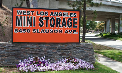 Self storage in Culver City entry sign