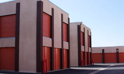 Exterior units at self storage in Hawthorne