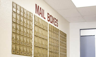Mail boxes are available for rent at Pasadena Mini Storage