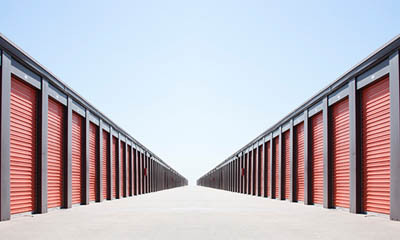 Wide driveways for easy access at Redondo Torrance Mini Storage