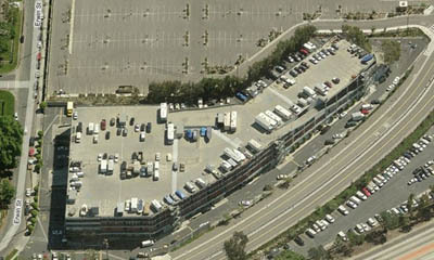 Aerial view of self storage in Van Nuys