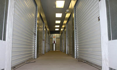 Easily accessible interior units at Anaheim Mini Storage