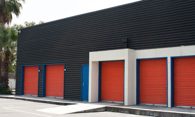 Exterior units at self storage in Anaheim