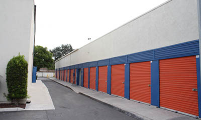 Wide driveways at mini storage in Anaheim