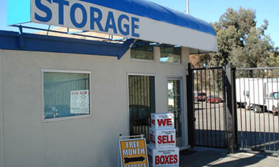 Office exterior at mini storage in Newport Beach