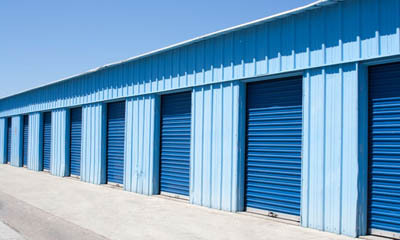 Exterior units at self storage in Santa Ana