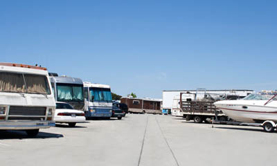 RV parking is available at self storage in Santa Ana