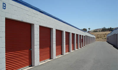 Exterior units at self storage in El Cajon