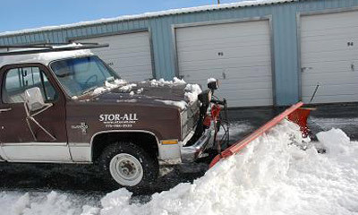Snow removal at gardnerville self storage