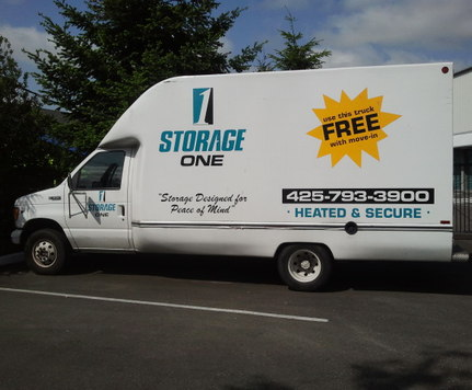 Storage one self free rental truck renton wa