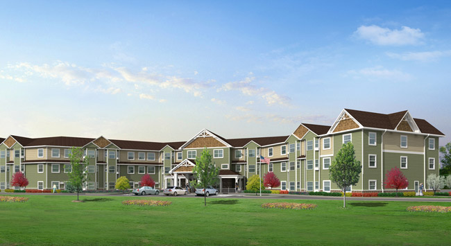Artistic rendering of Sugar Loaf Senior Community