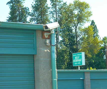 North albany self storage drive by sign security cameras or