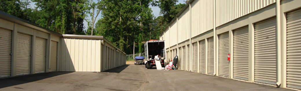 Exterior units available at Birmingham self storage