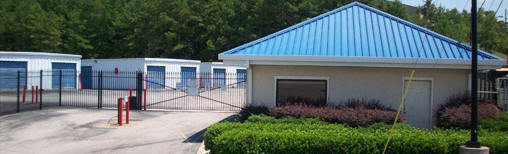 Gated storage units available at self storage in Birmingham