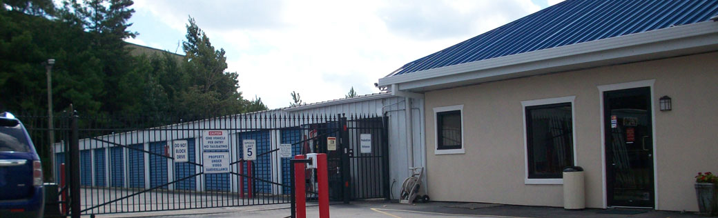 Outdoor storage featured at Birmingham self storage