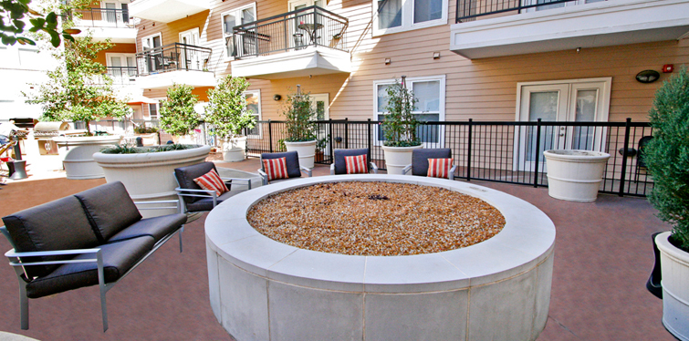 Inviting fire pit at Marquis West End