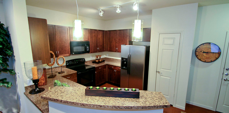 Inviting kitchen at Dallas apartment community