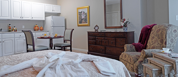 Bedford senior living studio apartment