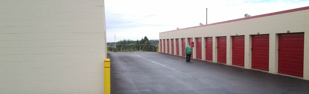 Large outdoor self storage units for rent in Silver City