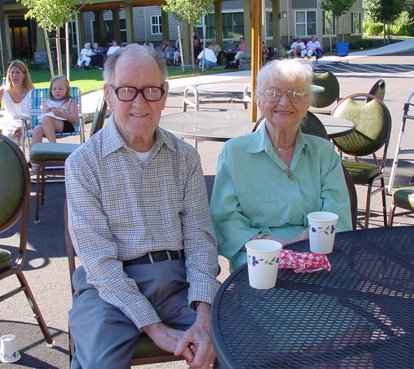 Residents at an event at wilsonville or senior living