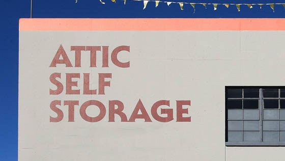 Attic self storage exterior of building