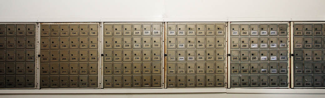 Mail boxes are available at self storage in San Francisco