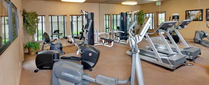 Work out in the fitness center at Renton apartments