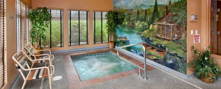 Relax in the spa and hot tub at Renton apartments