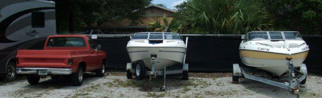 Boat storage is availabe at Ft Walton Bch Self Storage