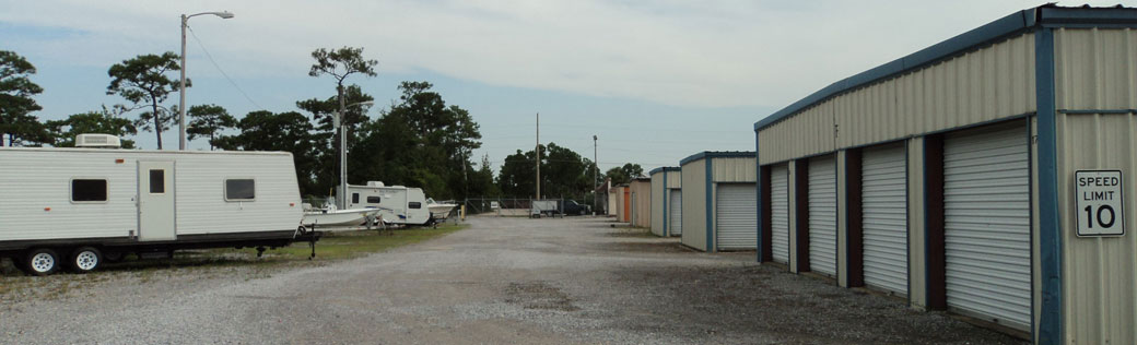 Outdoor units at Orange Beach Self Storage