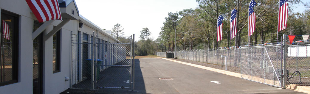 Outdoor units featured at Crestview self storage