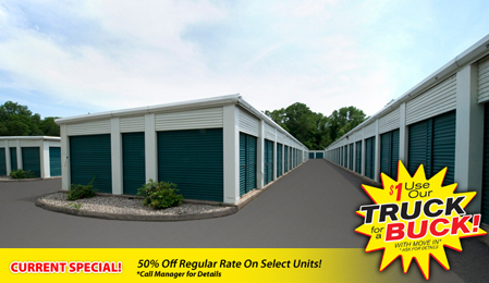 Self storage units in Simsbury