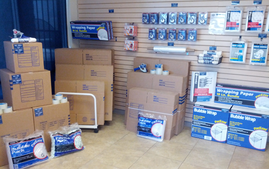 Packing and moving supplies at self storage in Norco