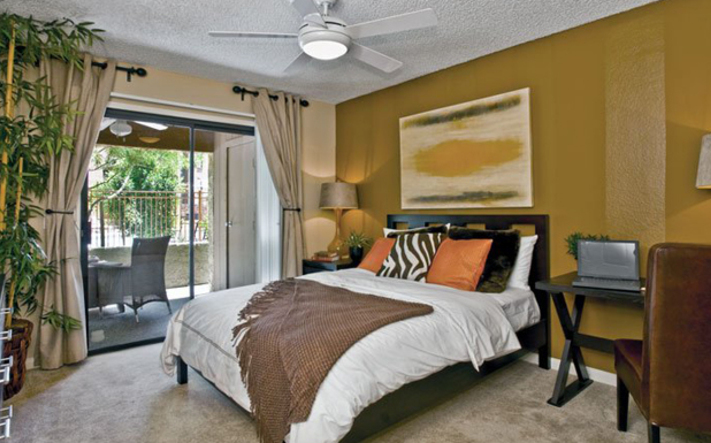 Master bedroom at Greenspoint Valley Apartments