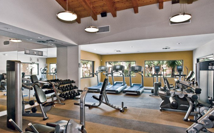 Workout room at apartments in Phoenix