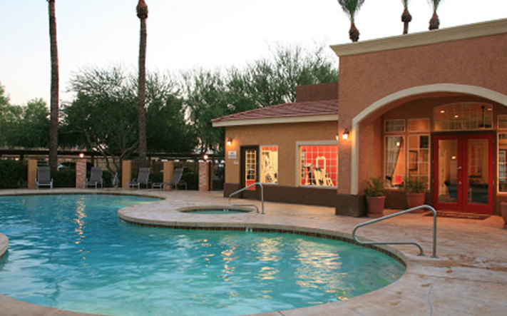 Phoenix apartments have a pool and clubhouse area