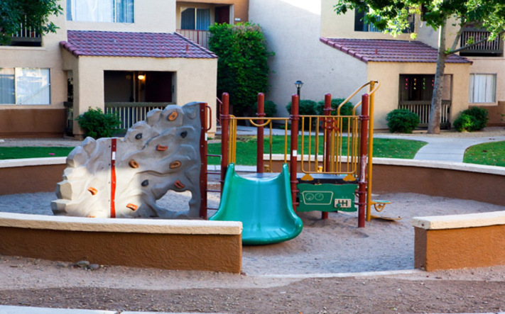 Affordable phoenix apartments have a playground for your children