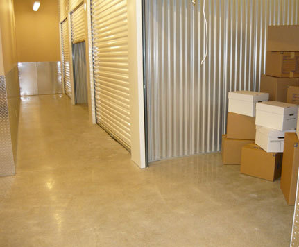 Covered loading area at renton self storage