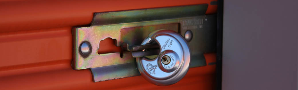 Disk locks are available at self storage in Odessa
