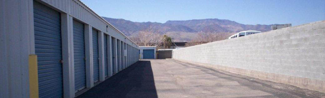 Alpha Self Storage in Cottonwood offers wide vehicle access.