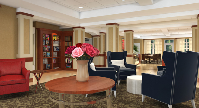 Front lobby area at our Rochester senior living