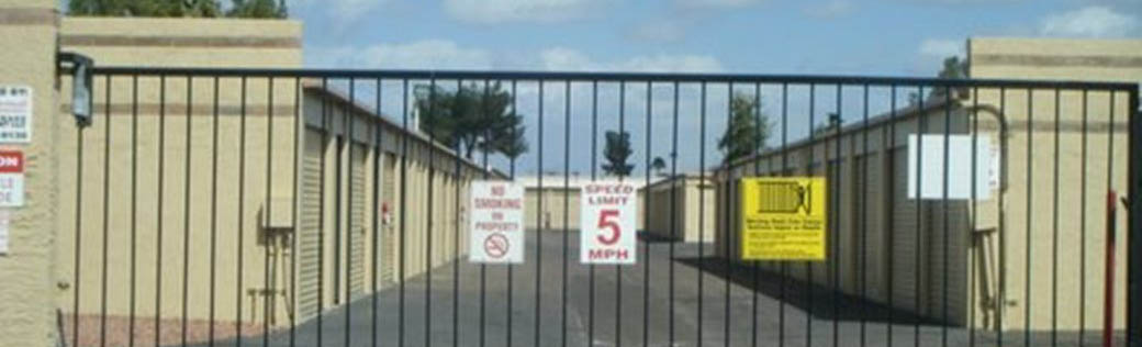 Our self storage facility in Peoria is safe and secure