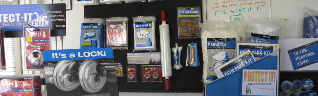 Packing supplies are available for purchase at self storage in Tucson.