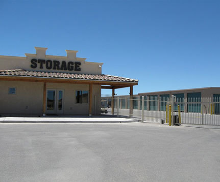 Entrance to albuquerque mini storage