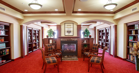 Library fireplace goodyear az retirement living